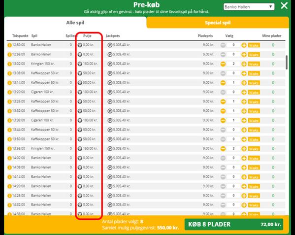 Spil bingo hos Danske Spil